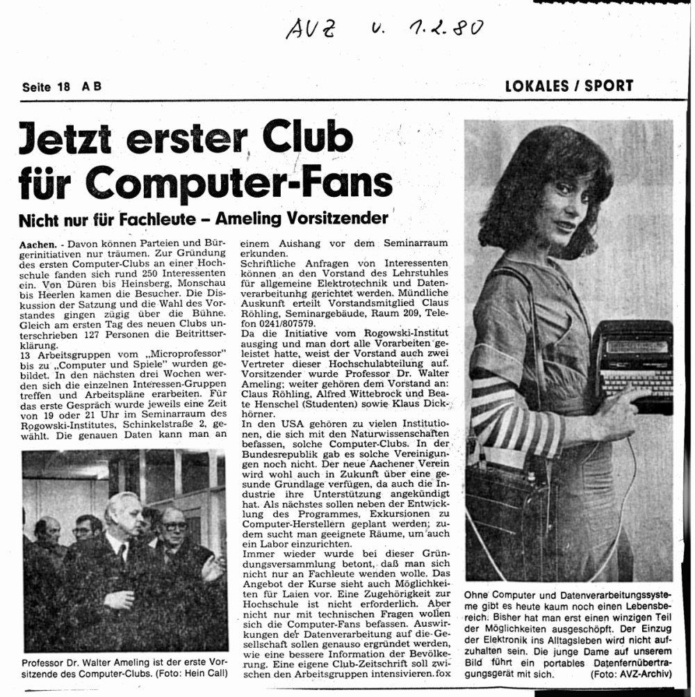 Beitrag AVZ 1980