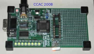 Microcontroller mit LED Studieninfotag 2008