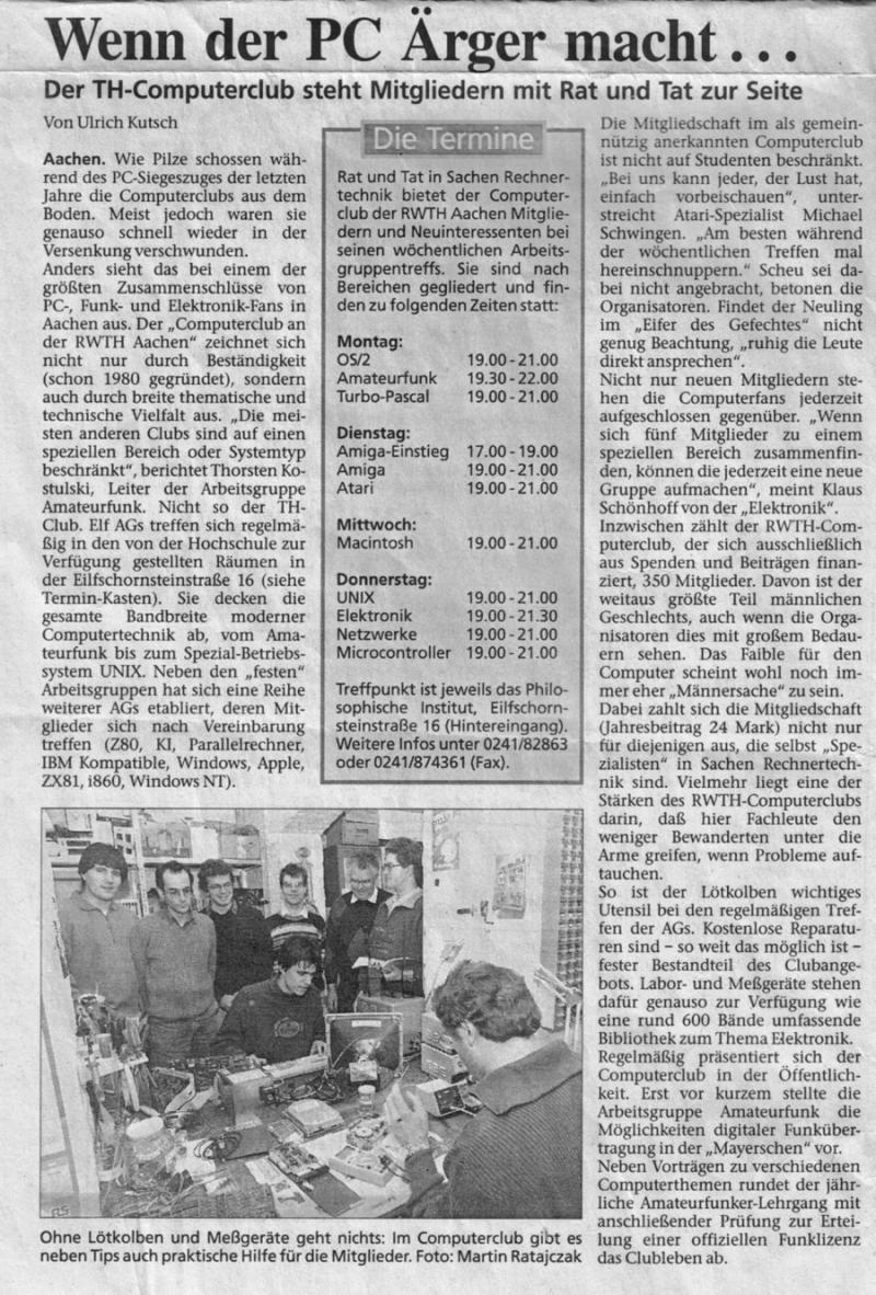 Computer und Amateurfunk im CCAC 1995